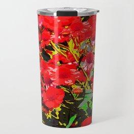 Red flowers garden Travel Mug