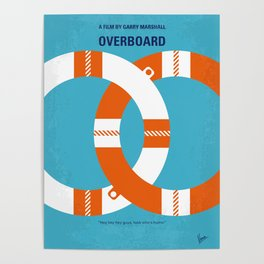 No815 My Overboard minimal movie poster Poster