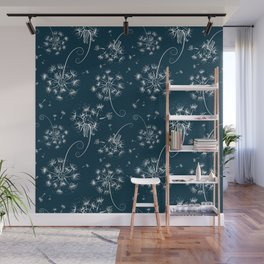Fluffy dandelions Wall Mural