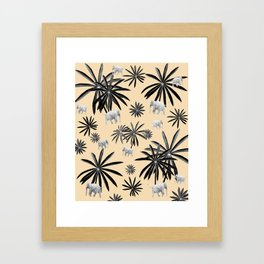 Palm Tree Elephant Jungle Pattern #2 (Kids Collection) #decor #art #society6 Framed Art Print