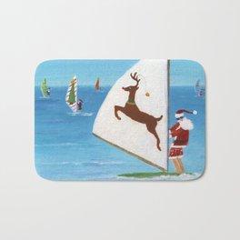 Christmas Wind Sailing Santas Bath Mat