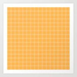 Bright Chalky Pastel Orange Tartan Plaid Art Print