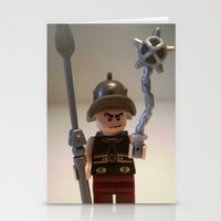 gladiator Stationery Cards featuring Gladiator 'Cracalla the Gladiator' LEGO Custom Minifigure by Chillee Wilson by Chillee Wilson [Customize My Minifig]