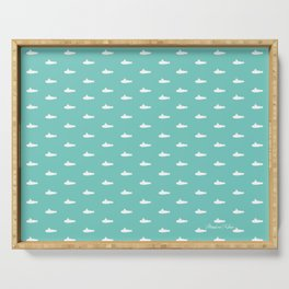 Tiny Subs - Teal Serving Tray