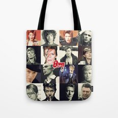 Bowie Faces Tote Bag