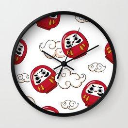 Cute Daruma Pattern Wall Clock