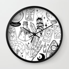 Fortune Teller Starter Pack Black and White Wall Clock