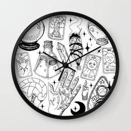 Fortune Teller Starter Pack Black and White Wall Clock