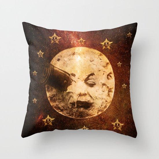 Viaje a la Luna Throw Pillow