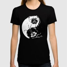 The Tao of English Bulldog Black Womens Fitted Tee SMALL