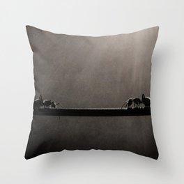 Ant Showdown Throw Pillow