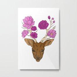 flower deer Metal Print