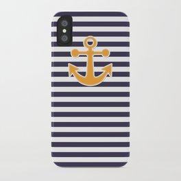 Blue , white , striped iPhone Case