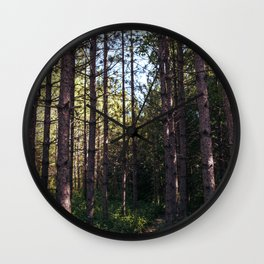 The tall trees of the forest Wall Clock