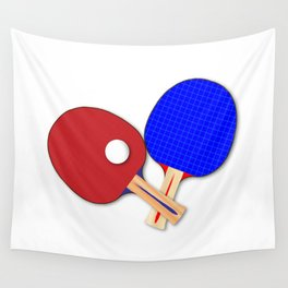 Pair Of Table Tennis Bats Wall Tapestry