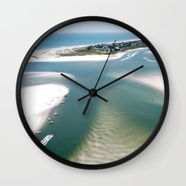 Rich's Inlet at the North End of Figure 8 Island | Wilmington NC Wall Clock