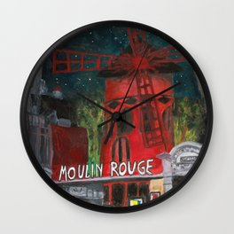 Night Scene Wall Clock