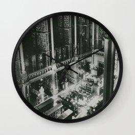 A Book Lover's Dream - Cast-iron Book Alcoves of Old Cincinnati Public Library No. 3 photograph Wall Clock