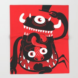 Mister Monster Throw Blanket
