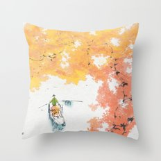 Autumn Drifting Throw Pillow