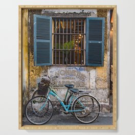 Savonnerie and Bicycles, Hoi An Ancient Town, Vietnam Serving Tray
