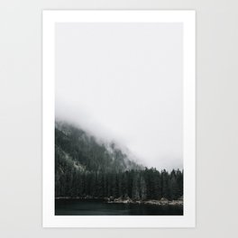Away From The Crowds, Into The Clouds Art Print