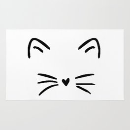 Cute Cat  Kitty Kitten Rug