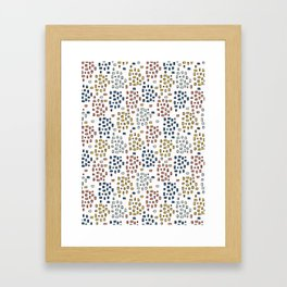 Rectangle Square Doodle Vector Pattern Seamless Primary Framed Art Print
