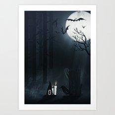 Once upon a foggy night Art Print