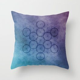 The Fruit of Life - Sacred Geometry Throw Pillow