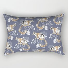 Numbats Blue Rectangular Pillow