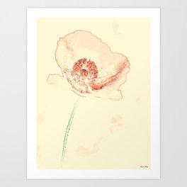 Poppy One Art Print