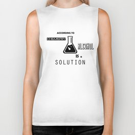 Can't Argue With Science Biker Tank