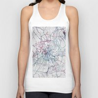 nashville Tank Tops featuring Nashville by MapMapMaps.Watercolors