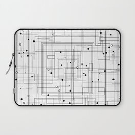 Black and white geometric abstract pattern Laptop Sleeve