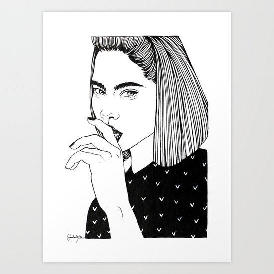 Inktober 01_2016 Art Print