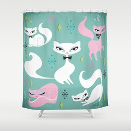 Swanky Kittens Shower Curtain