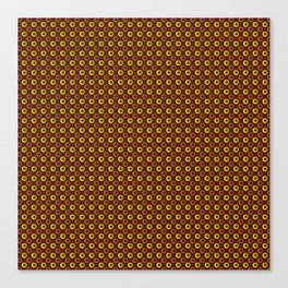 Yellow And Brown Circle Geometric Patterns Canvas Print