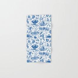 "Zelda ""Hero of Time"" Toile Pattern - Zora's Sapphire Hand & Bath Towel"