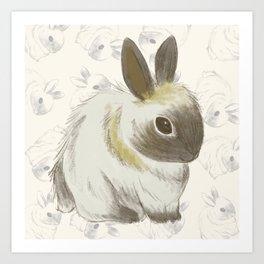 Kawaii Cute bunny Art Print