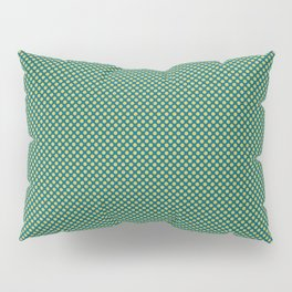 Dark Yellow Uniform Polka Dot Pattern 1 on Tropical Dark Teal Inspired by Sherwin Williams 2020 Trending Color Oceanside SW6496 Pillow Sham