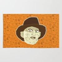 freddy krueger Area & Throw Rugs featuring Freddy Krueger by Kuki