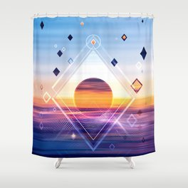 Abstract Geometric Collage II Shower Curtain