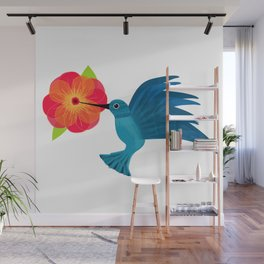 Hummingbird in Flight Wall Mural
