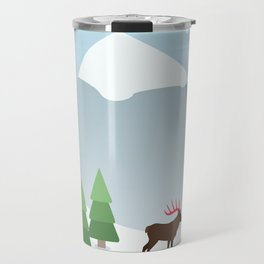 Winter in the mountains Travel Mug