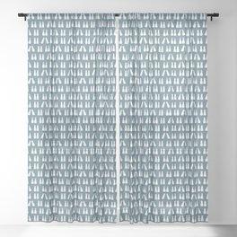 Denim Blue and White Scuba Fins Pattern Sheer Curtain