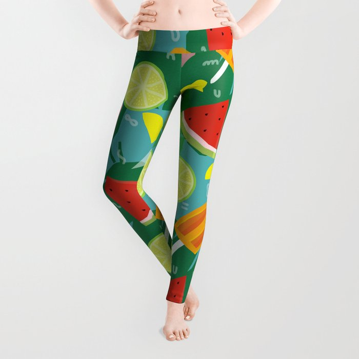 Watermelon, Lemon and Ice Lolly Leggings