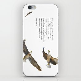Soar on Wings Like Eagles - Isaiah 40:30-31 iPhone Skin
