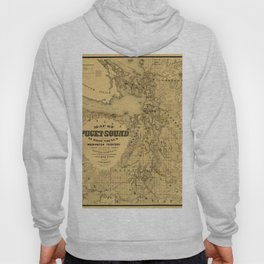 Map of Puget Sound 1877 Hoody