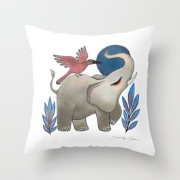 Save the Elephants Throw Pillow